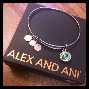 ALEX AND ANI Bracelet Peridot Charm